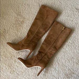 Genuine suede leather boots